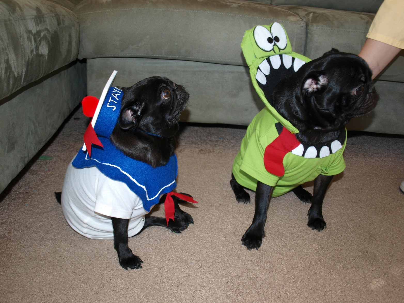 Stay Puft and Slimer